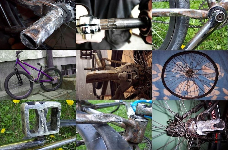A selection of parts used and abused by the team over the years.