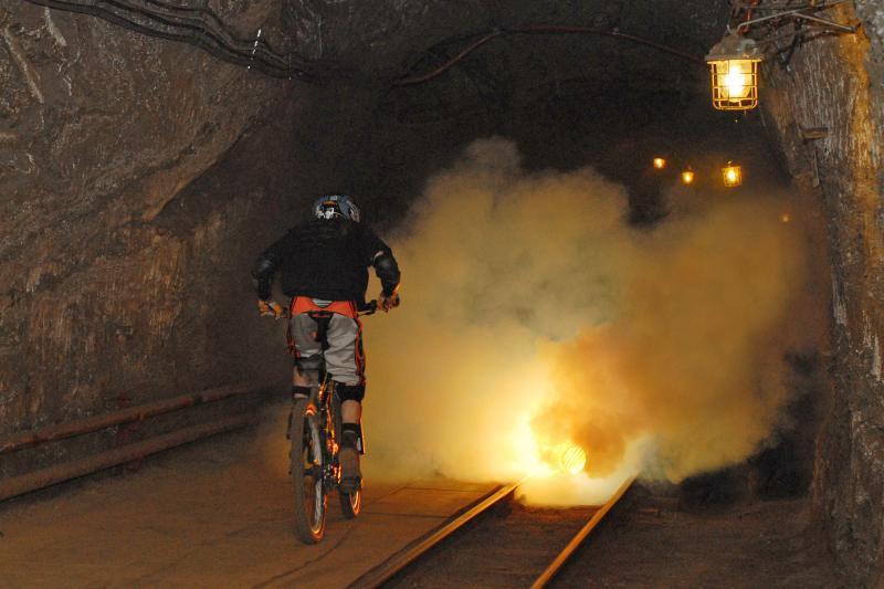 This is real underground ride. 200m underground...  Saltmine Bochnia .  Photo by Tomasz Ryncarz.