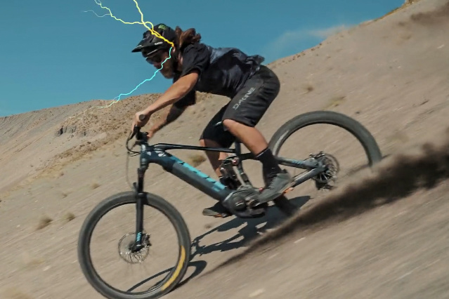 cd08ae89539 Video: Aggy Rides an eMTB in Kona's 'Your Brain on E' - Pinkbike
