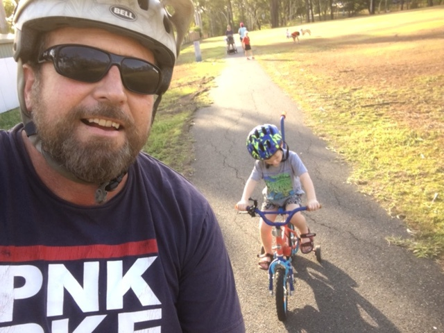 Ride with my boy in the park
