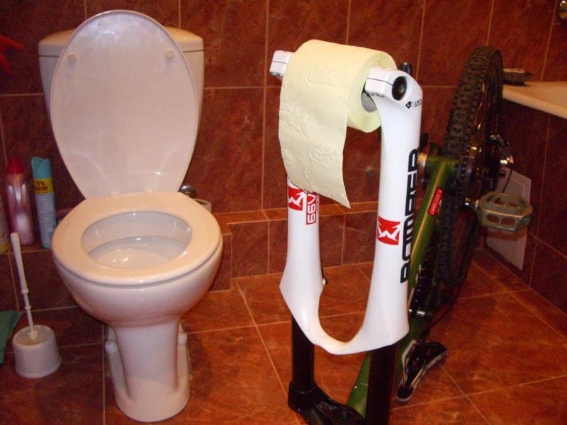 The holder for a toilet paper)))
