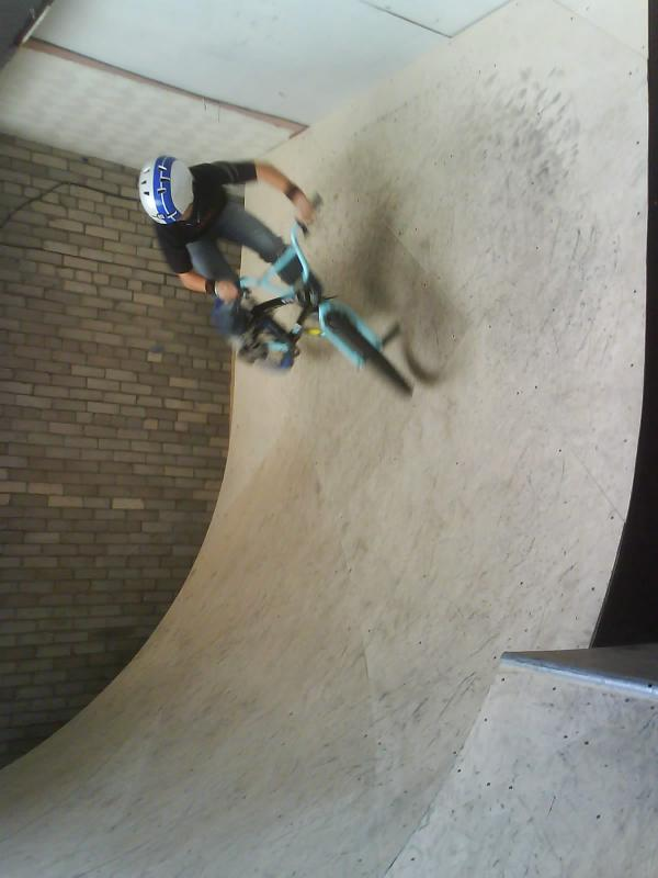 me on the vert wall