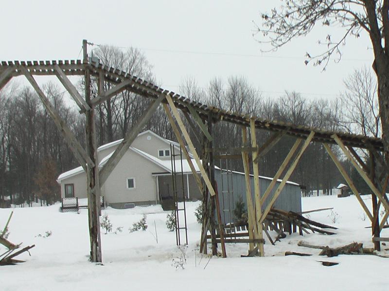 ladder up ramp to drop