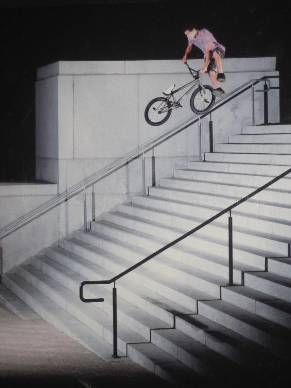 Huge Tailwhip Down Stairs. Not My Photo, Cover Of Ride BMX Mag. Photo By Walter Pieringer.