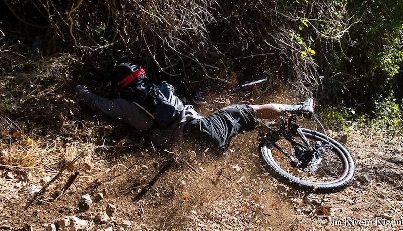 There were a couple of big crashes throughout the day. Thankfully everyone was able to finish the race.