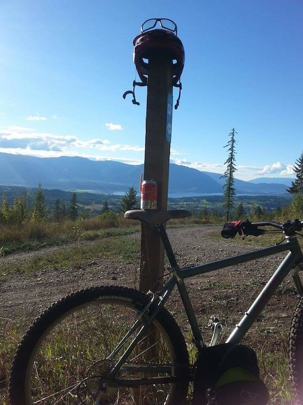 South Canoe, overlooking Salmon Arm end of Shusawp Lake. Kinda the middle point of the trails climb. Decend here, or continue up another level. Perfect rest/decision point.