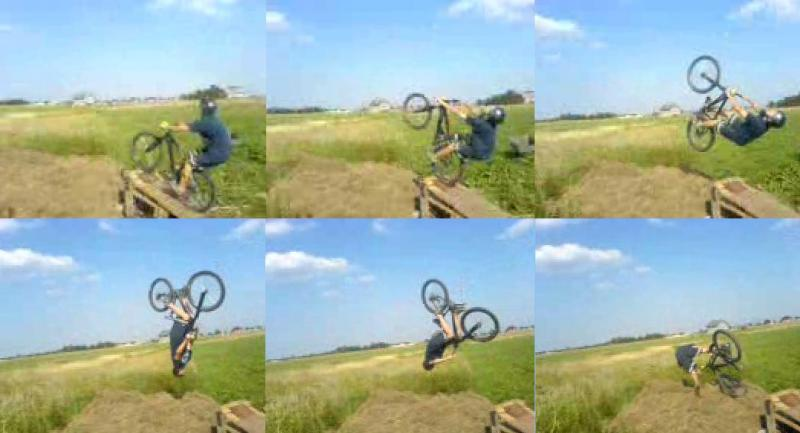 My backflip to hay ;P I'm learning.
