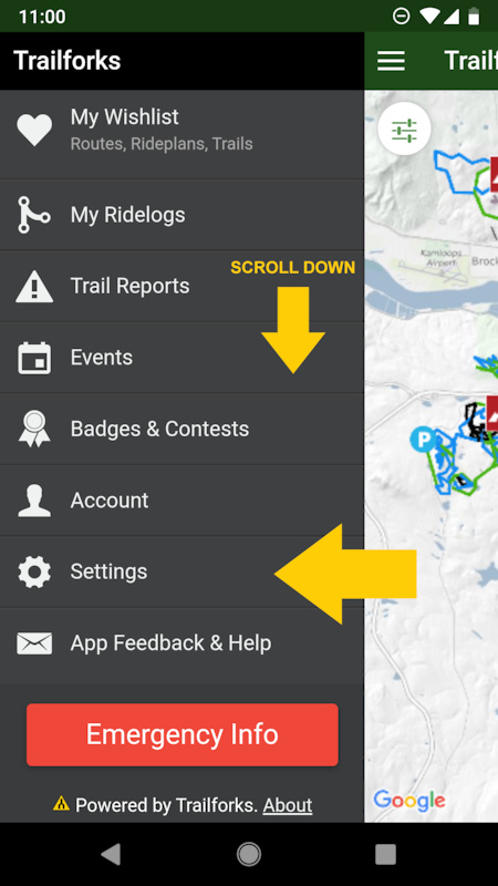 Sync Downloaded Region in the App | Trailforks