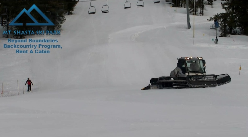 Ski Park Crew working on the Corduroy Crusher Race Course 2019