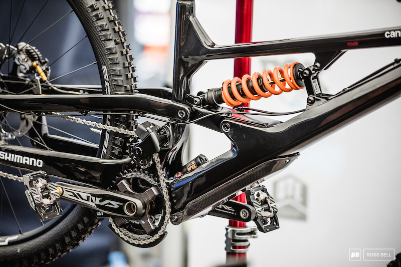 A Closer Look at Cannondale's Wild 2-Shock DH Bike - Maribor World Cup DH 2019