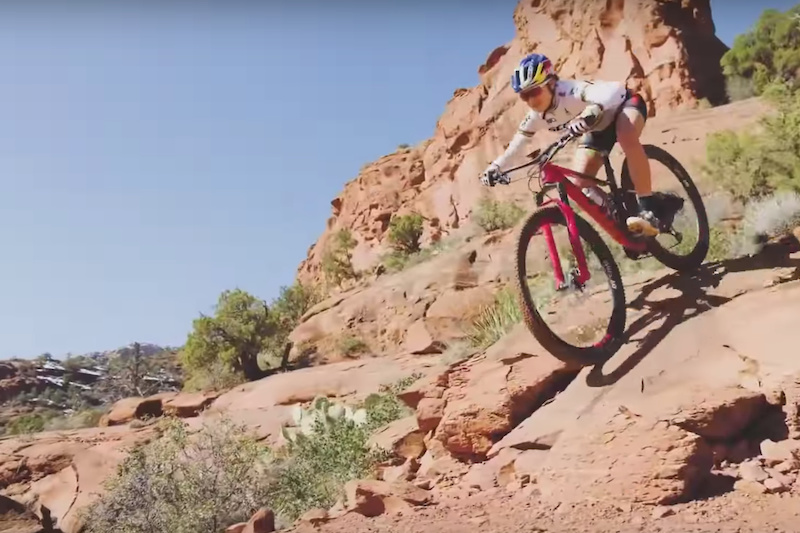 Kate Courtney Flies Up, Down & Along in Sedona