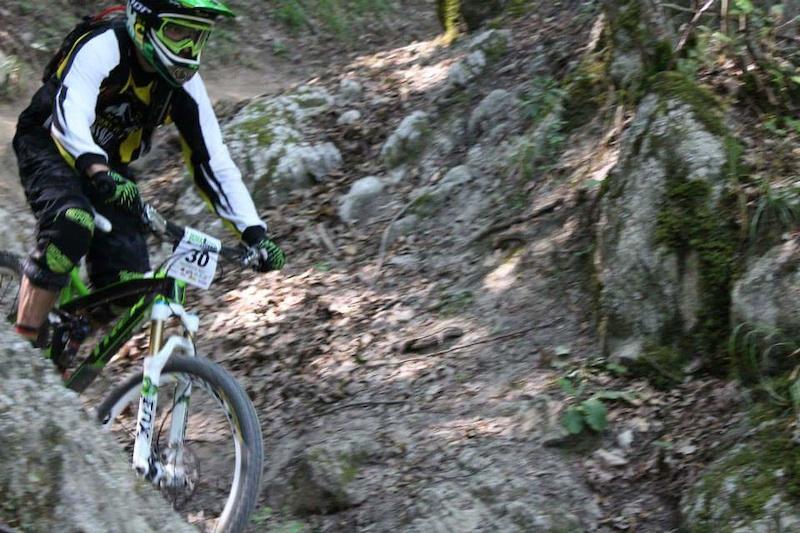 biker on brigna trail