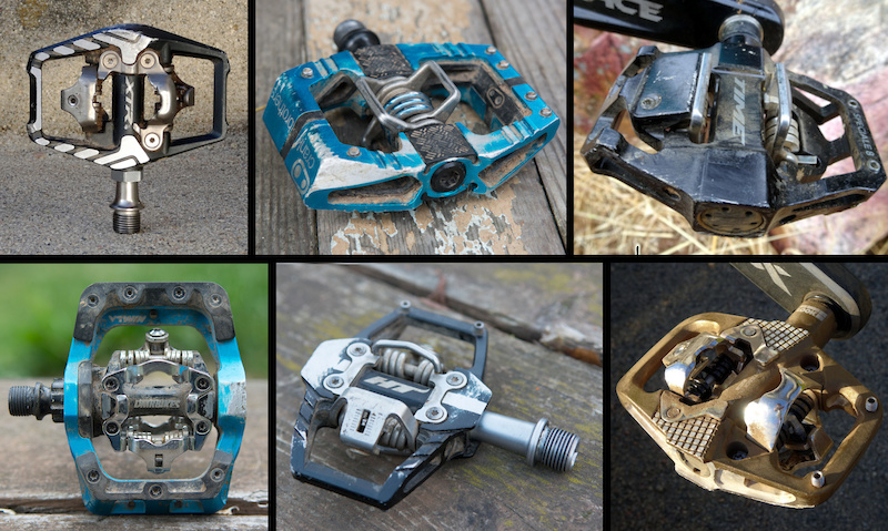 Includes Cleats Black//Blue Crankbrothers Mallet Enduro MTB Bike Pedals Pair