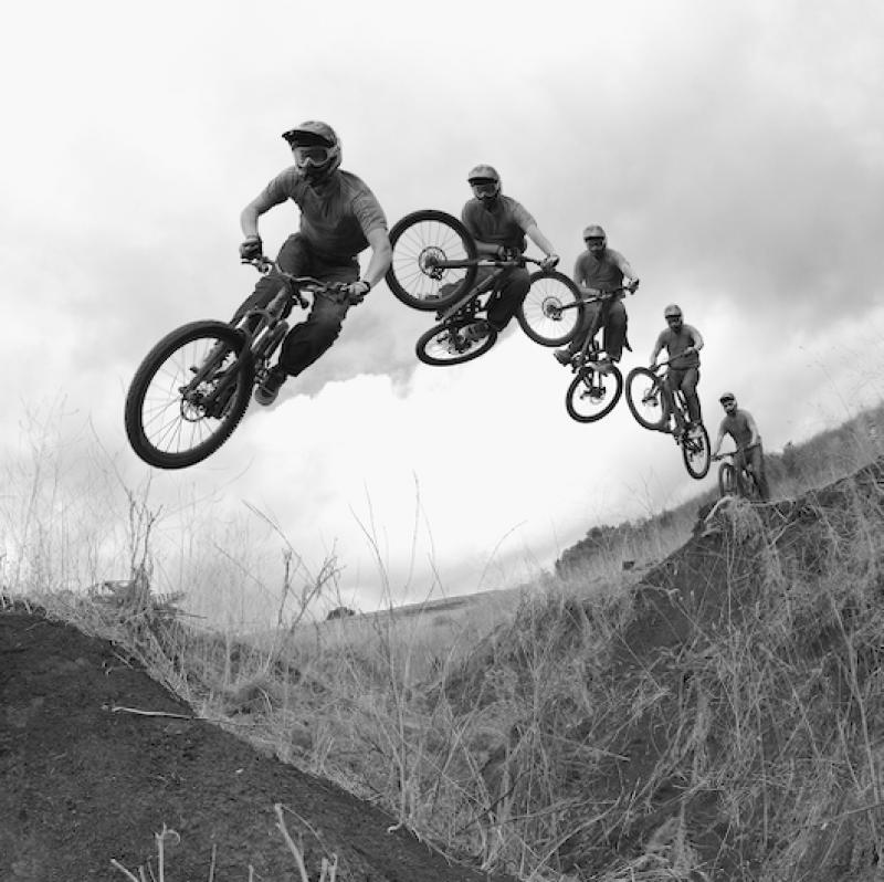 Sequence photo of Pierre Edouard Ferry doing a whip over a huge gap.