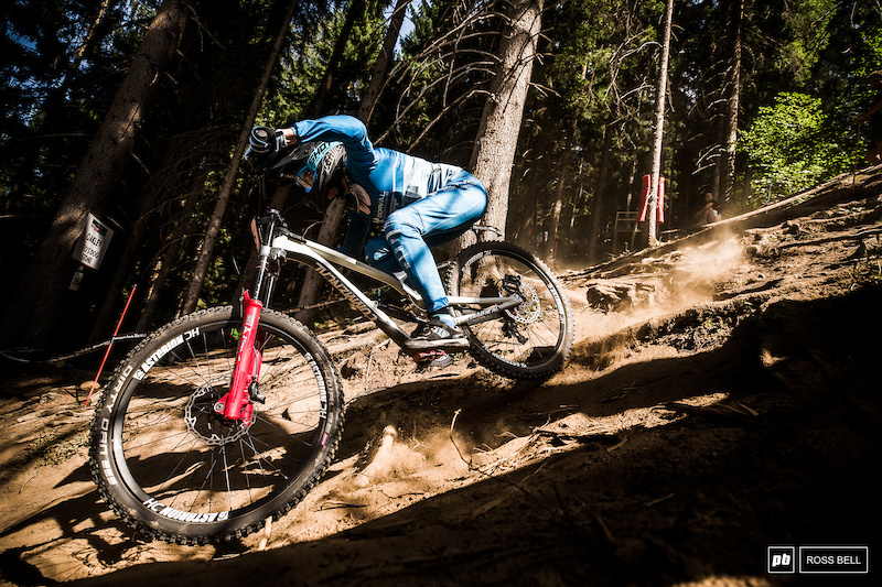 It's great to see Monika Hrastnik back on the bike in Val di Sole.