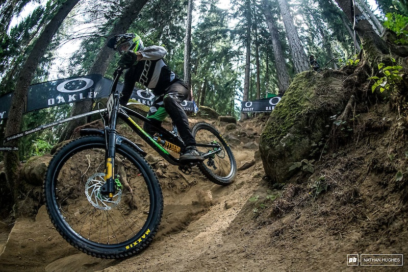 Adam Brayton has been bouncing off rocks and compressions like a mad man this week. He lives for that stuff.