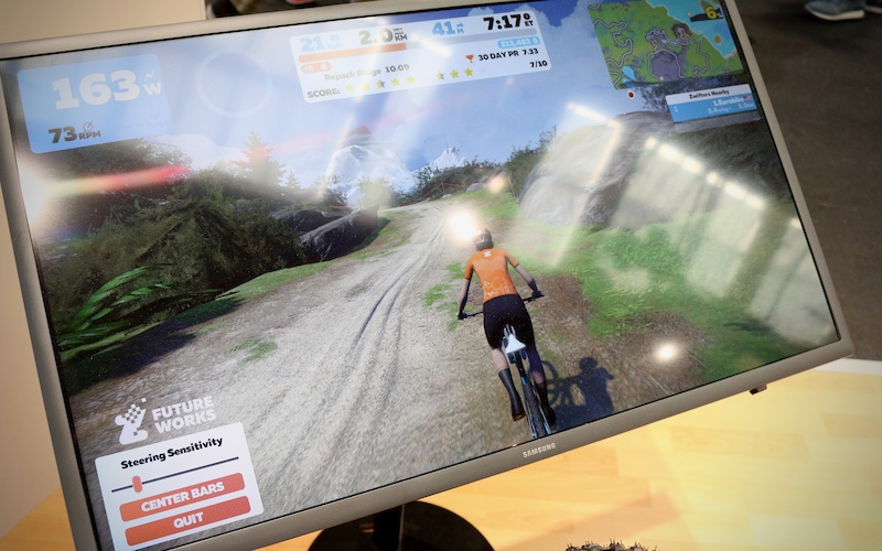 Zwift Goes Virtual Mountain Biking, Offers Steering