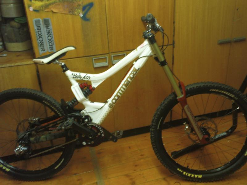 my commencal after a service a fresh paint on the forks