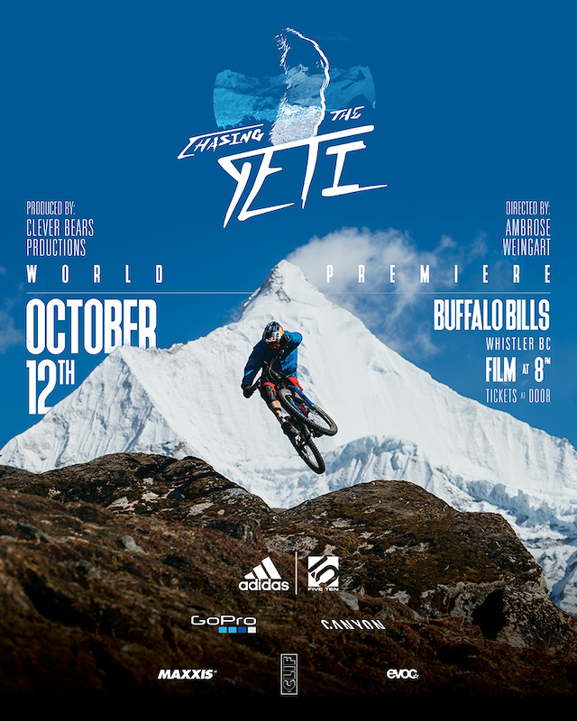 Chasing The Yeti Whistler Premiere Saturday October 12th