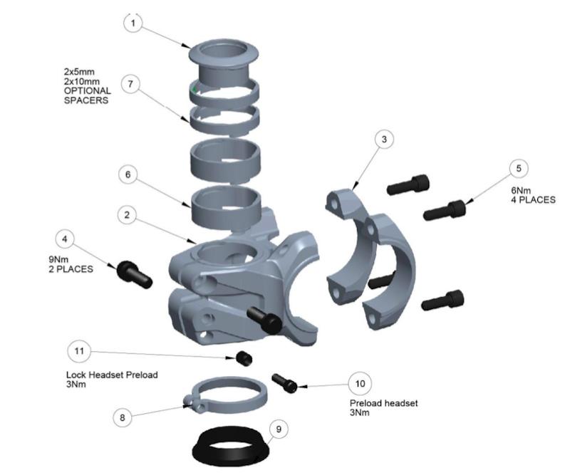 OneUp Components EDC Top Cap Preload Kit