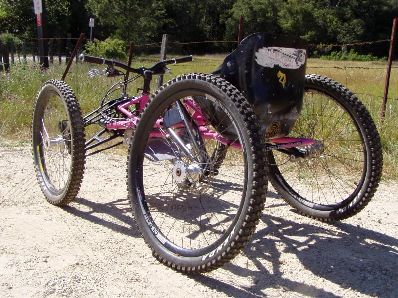 My girl's rear. This is my current fourcross race bike. We actually tried to get a sponsorship from Rob Halford, but he wouldn't return our emails...