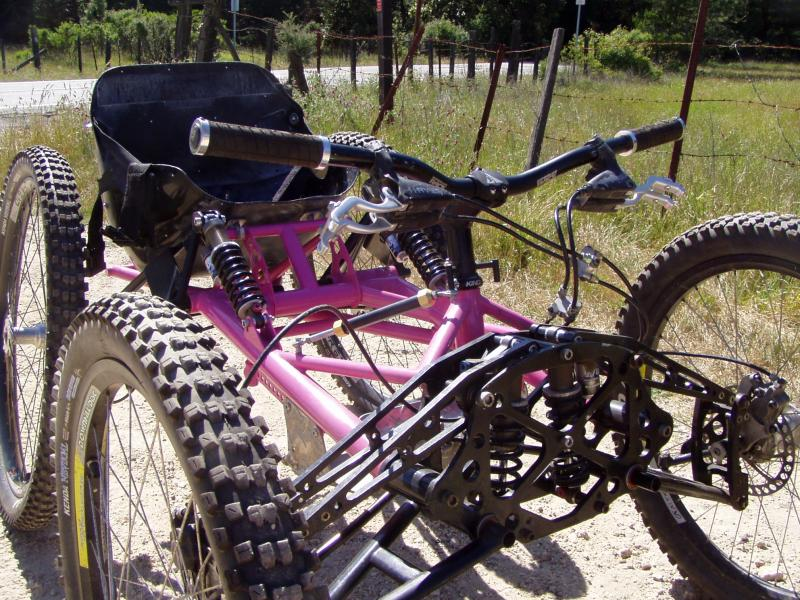 Here is my current rig. She's an old Grove Innovations fourcross bike that has been rebuilt from the ground up.