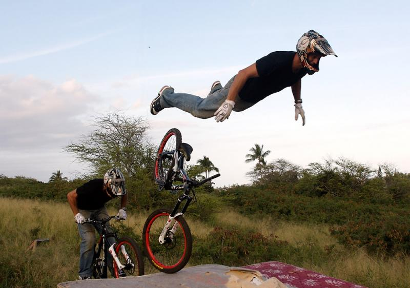 front flip sequence.  Nice try Vish!