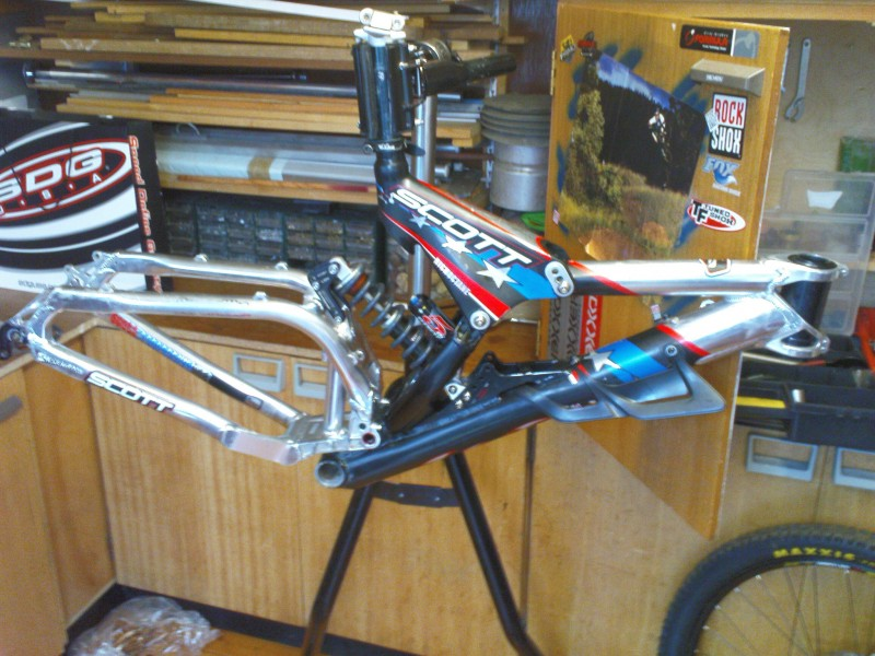my spare dh frame. just can't afford to build it up now.