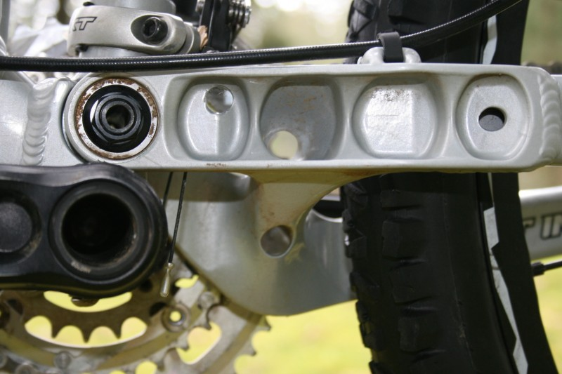 Chainstay yoke detail on the Slayer SXC90