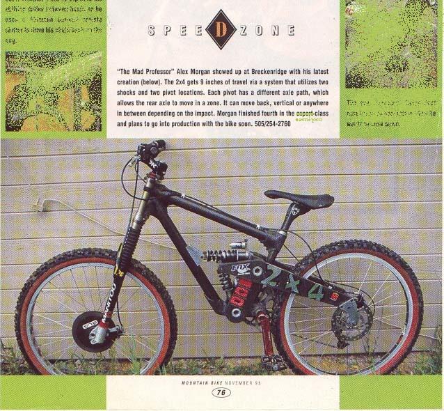 Buffalo Composite Designs 2 4 downhill frame.