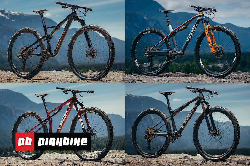 Video: Trek Supercaliber vs Cannondale Scalpel vs Canyon Lux vs Specialized Epic - Field Test Round Table - Pinkbike