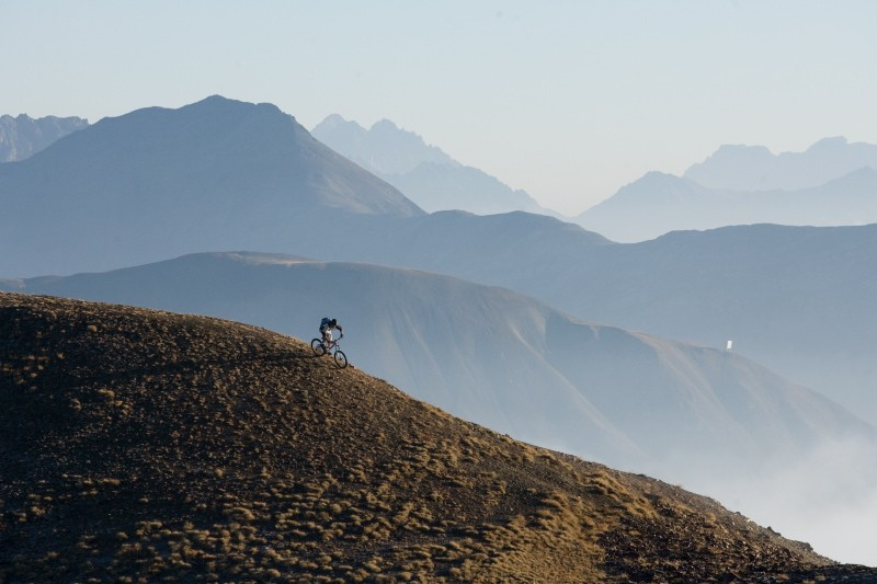 Early monring ride in Alta Rezia.  Pic by Markus Greber.