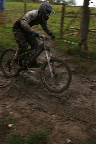Racing in the mud