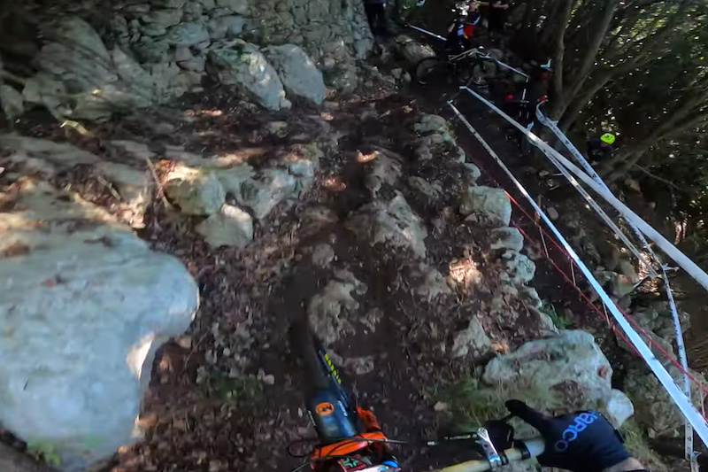 Video: Lewis Buchanan Takes On the Tight and Technical Stage 3 at EWS Finale Ligure - Pinkbike