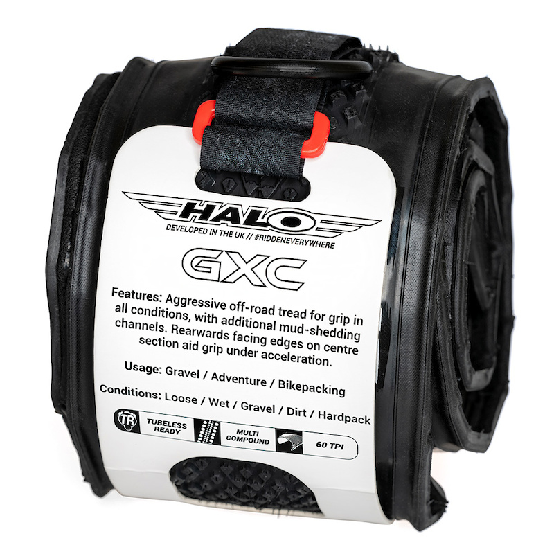 Halo GXC Tyre Packaging. Reusable and recyclable.