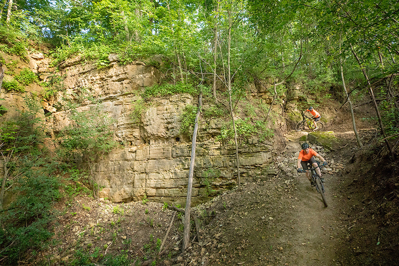 Photo Credit Chris Guibert of Rock Solid Trail Contractors. The Builders riding their creation