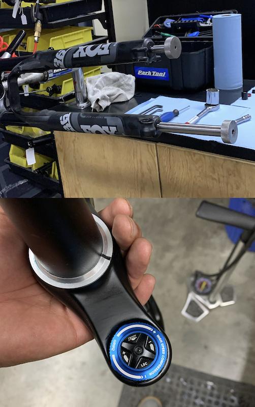 damper upgrade on my 2021 rythm fox 36 fork