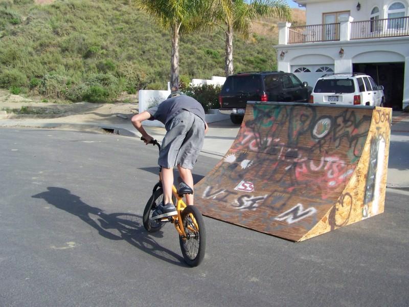 me with my braand new hoffman bmx bike
