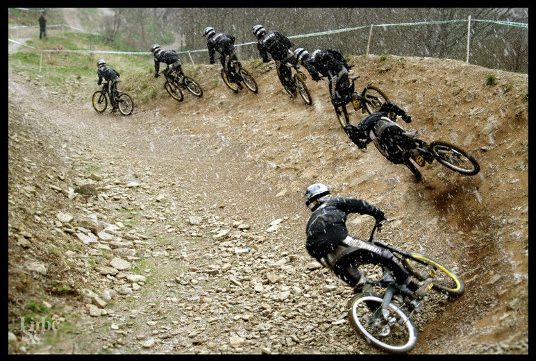 A great rescue at the Cwmcarn Dragon Downhill.