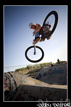 Doing some biking