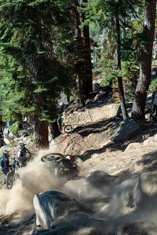 There was an excessive amount of carnage on stage 5 as it was the gnarliest and most challenging track on the entire course.