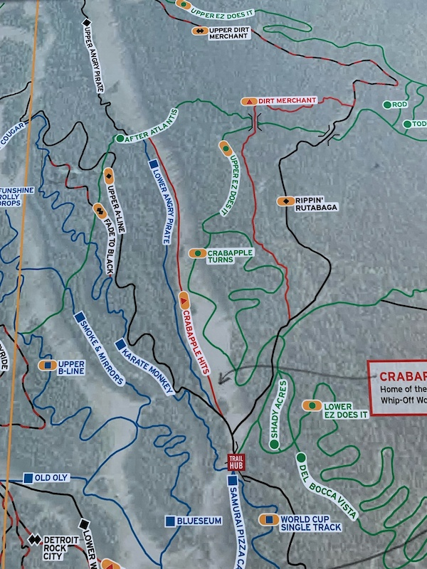 Crabapple Turns on the Whistler maps