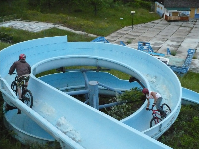 riding the water slideS
