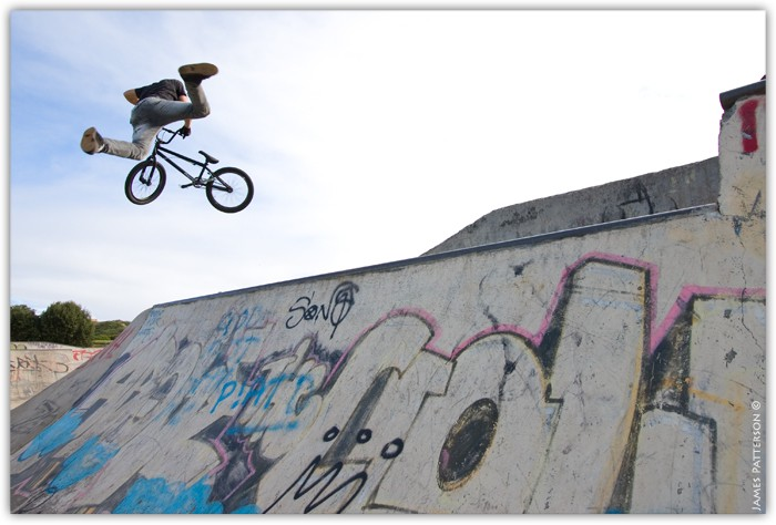 Goodall with a mad super whip over the hip