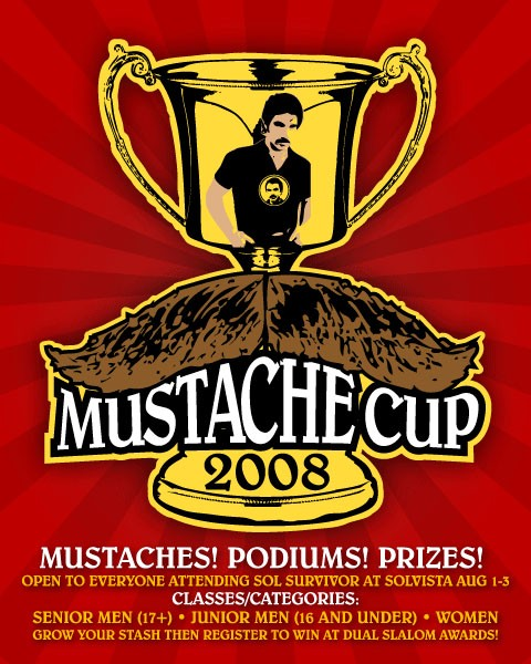 Get your grow on for the 1st Annual Mustache Cup at the SolVista Bike Park.