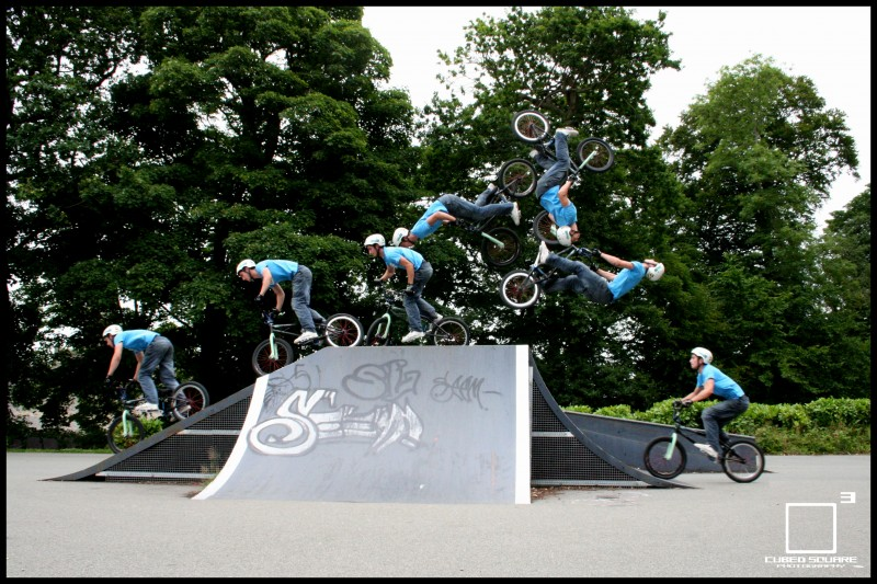 Sequence of Oli backflipping over the jump box - Cubed Square Photography - Laurence CE