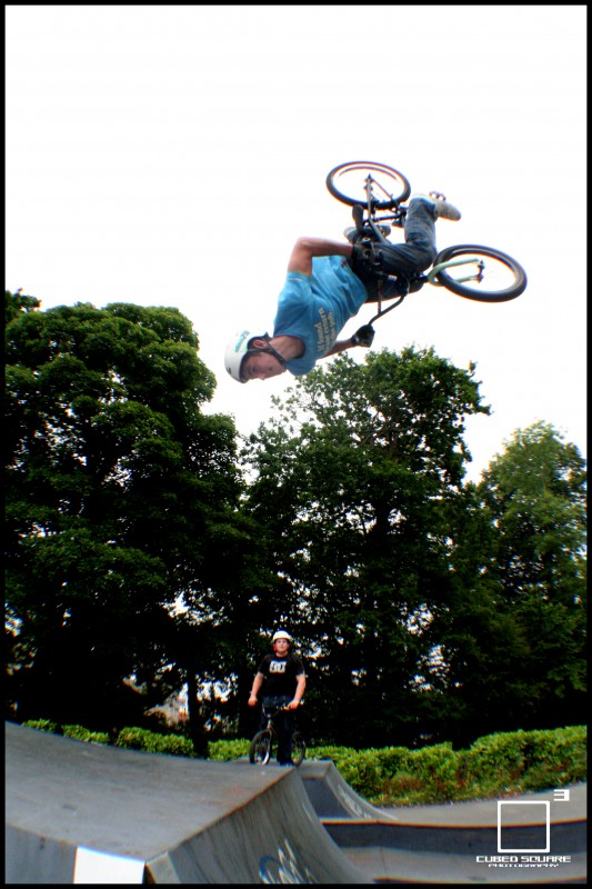 Oli backflipping the jump box - Cubed Square Photography - Laurence CE
