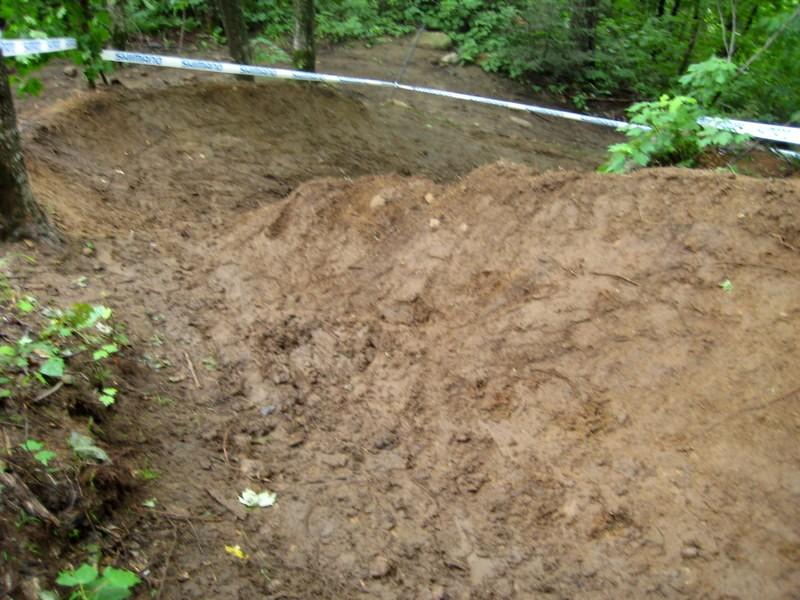 mud... before it'd been ridden.