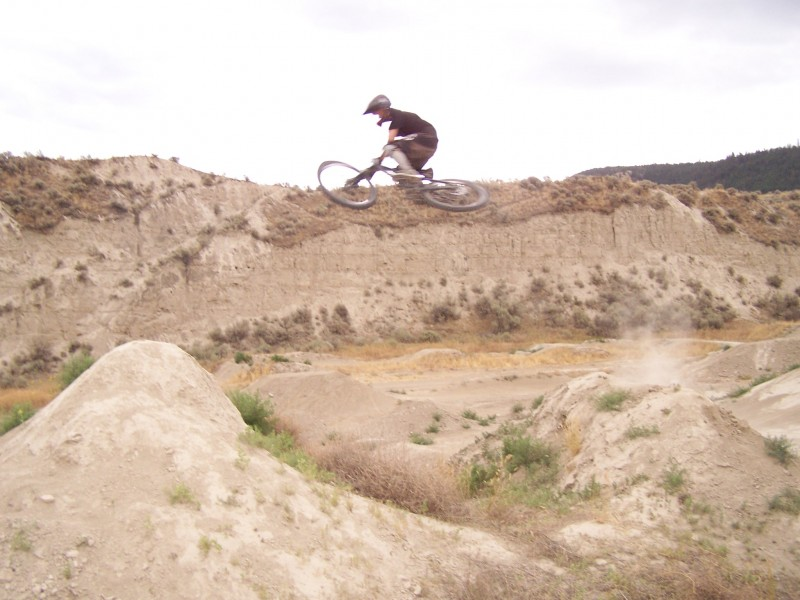 Table off second jump on the NWD line at the Kamloops bike ranch