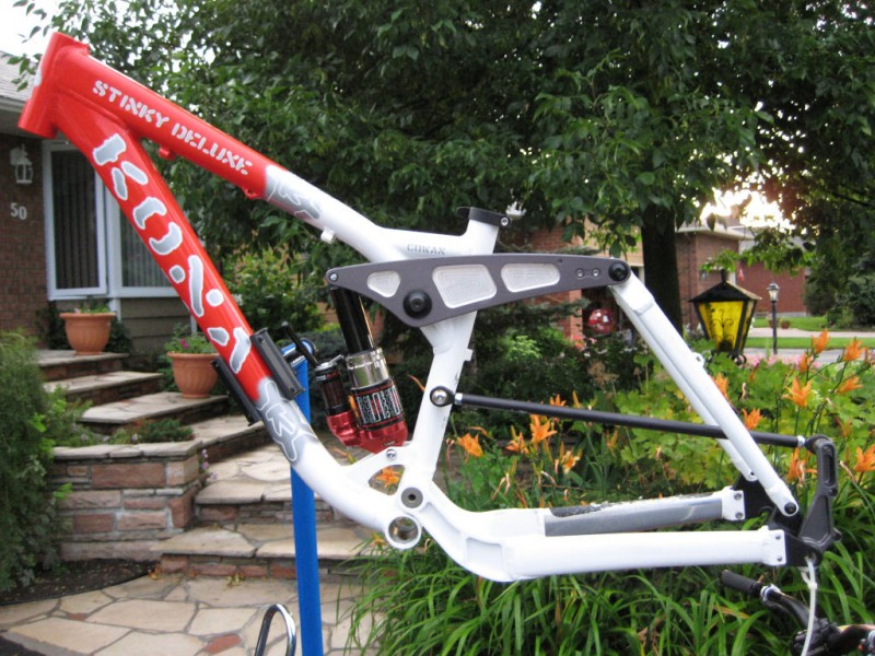 Another shot of the frame. Custom painted just for John. Thanks guys!